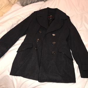 Miss Sixty Charcoal Grey Peacoat
